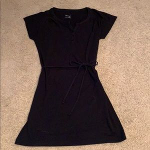 Adorable cotton knit belted dress